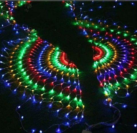 3m 540SMD Apertura de pavo real Luz LED Fiesta de bodas de Navidad Año Nuevo Decoraciones Cortina de luz de fondo