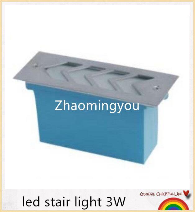 Envío libre Impermeable llevó la luz de la escalera 3W 300lm camino subterráneo lámpara de luz exterior de aluminio led AC85-265V ahorro de energía