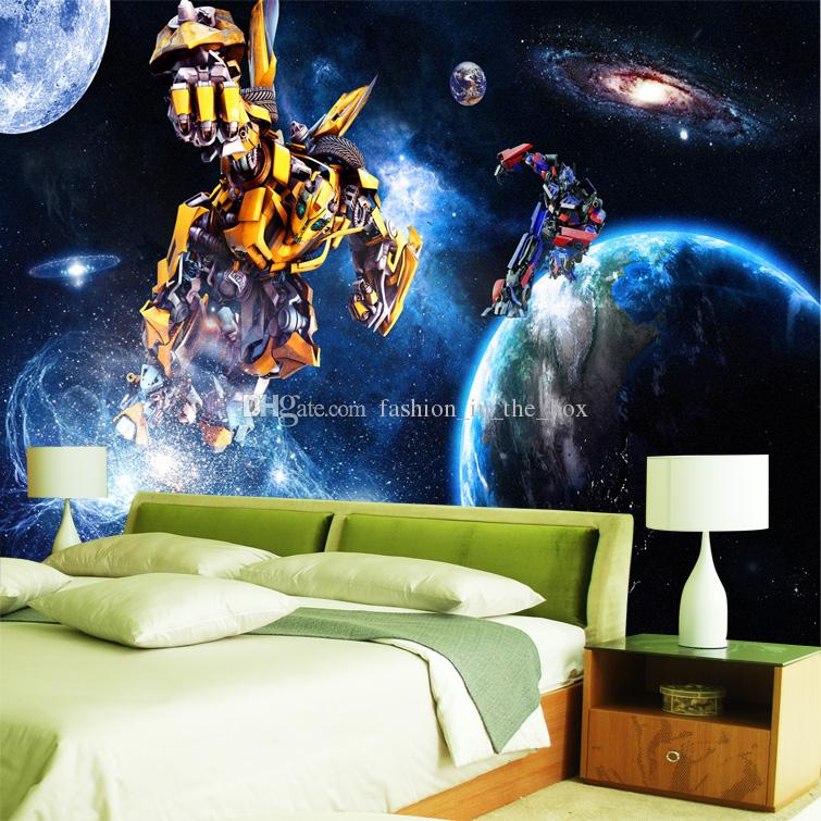 Custom 3d Wallpaper For Walls Galaxy Transformers Photo Wallpaper Starry Sky Wall Mural Boys Bedroom Living Room Restaurant Wall Covering Wallpaper
