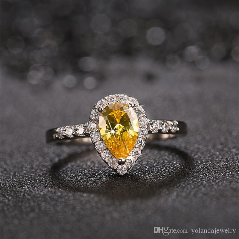 Luxury and Shining Fashion Hand Jewelry Cut Diamond Engagement Anniversary Ring Jewelry