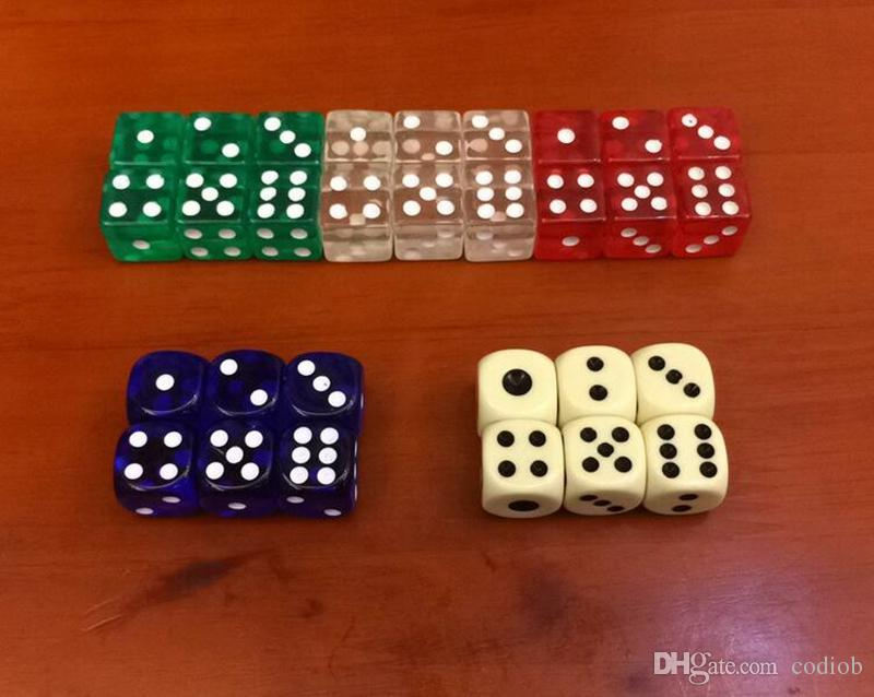 15mm Crystal Dice Clear Square Corners 6 Sided Dices Transparent D6 Boson Acrylic Kids Board Games Toy Drinking Game Good Price #F20
