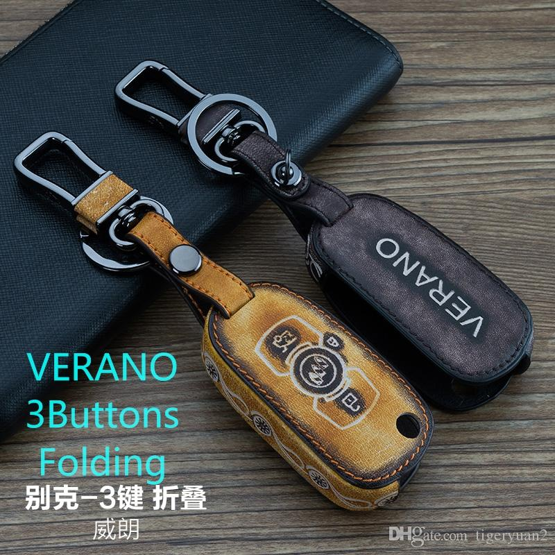 Smart Car Key case 3 Buttons FOR Buick Verano Keychain Graffit ...