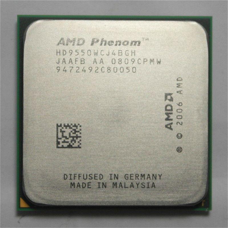 الأصلي AMD وحدة المعالجة المركزية Phenom X4 9550 المعالج 2.2G AM2 + / 940 دبوس / ثنائي النواة / 2MB L2 مخبأ / 95W قطعة مبعثرة