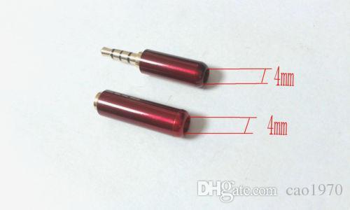 1 paire rouge 3.5mm 4 polemini Stereo Audio (mâle + femelle) adaptateur de connecteur à souder
