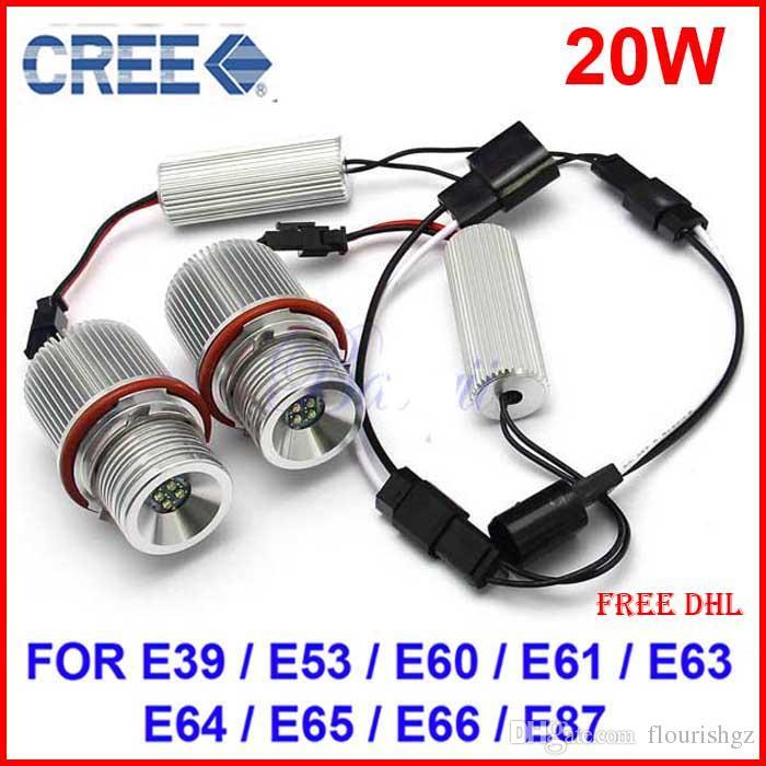 Gulecの支払いリンク! 20ペアE90 E91 6W LED Angel Maker Eyes Xenonホワイト+ 10ペアE60 20Wクリーled天使マーカーアイスキセノンホワイト