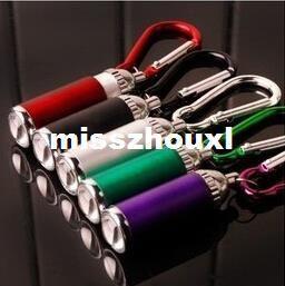 Mini LED Flash Light Torch Flashlight Emergency Keychain mix Color