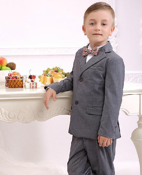 2016 New Boy's Formal Wear Tuxedos Custom Made 2015 Male baby flower girl dresses(Jacket+Pants+Vest+Bowtie)12