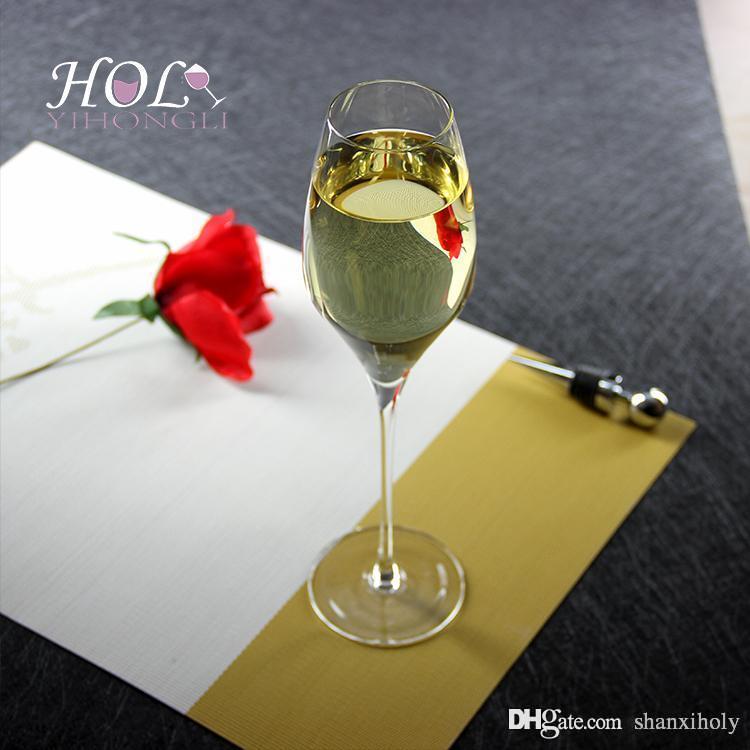 Bicchiere di champagne in cristallo senza piombo a forma di flauto