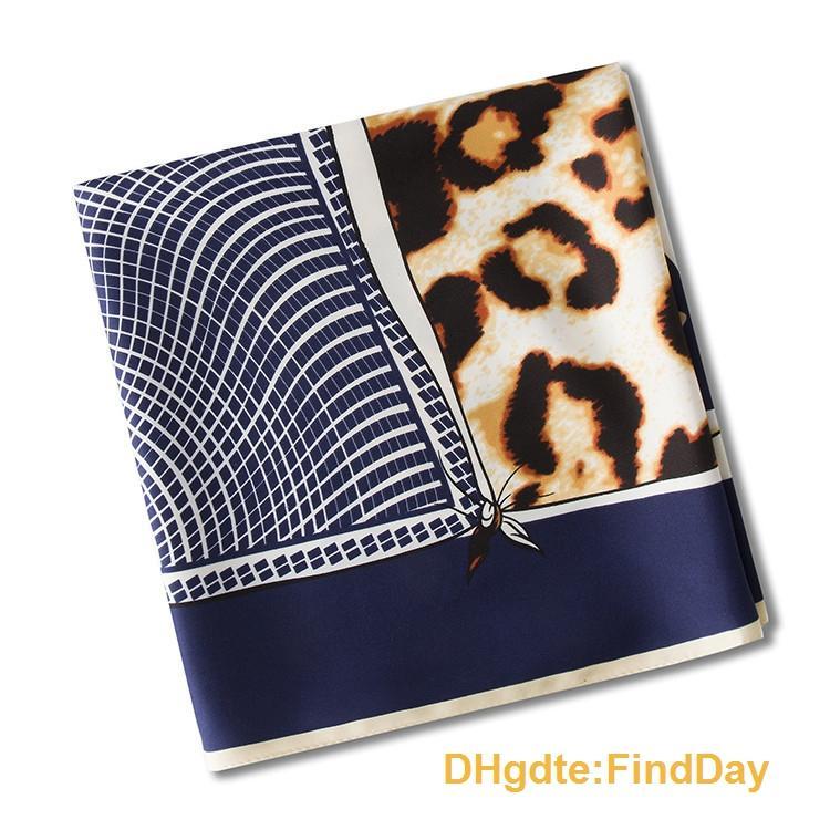 La nuova Xinjiang turbante del leopardo onda nove geometrica palazzo signora twill scialle sciarpa di seta