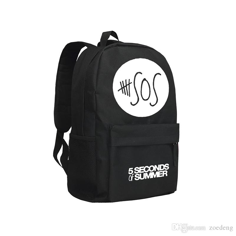 5sos Bcakpacks Famous Singer Symbol Mochila Boys and Girls Rucksack 5 Seconds of summer School Backpack