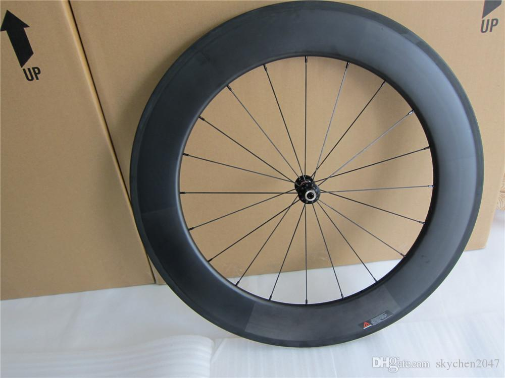 700C 88mm depth full carbon bike tubeless clincher road wheelset super quality track bike wheels for cycling freeshipping now