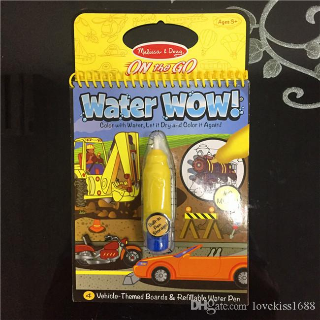 ... United States Reusable Pen Aqua Coloring Book Doodle Arts Drawing  Writing On The Go Water Wow ...