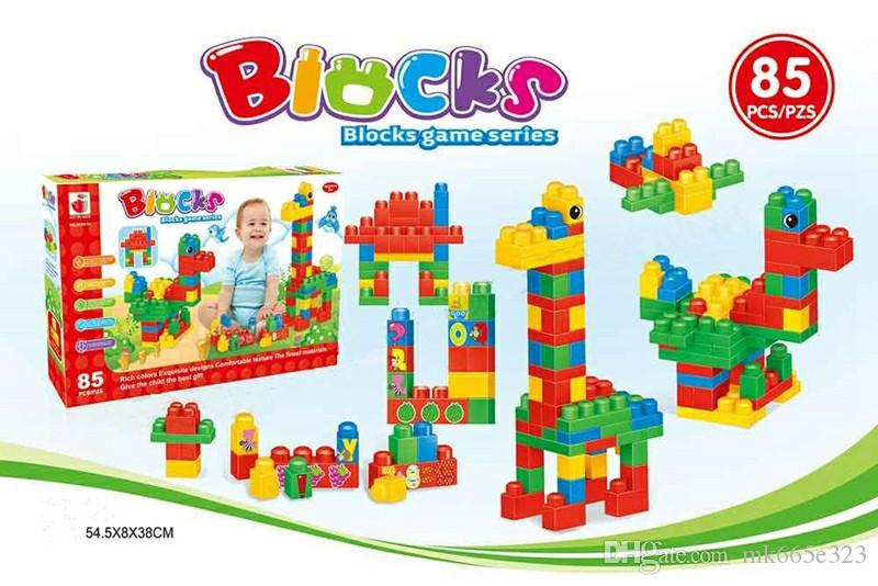 85 pcs Australia Rainbow Building Blocks DIY Big Particles Assembled Science and Education Children Play Block Puzzle Kids Toys Wholesale