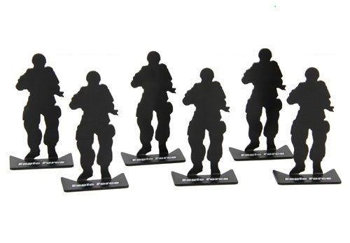6pcs Metal Target Modle Size 80x33mm Black