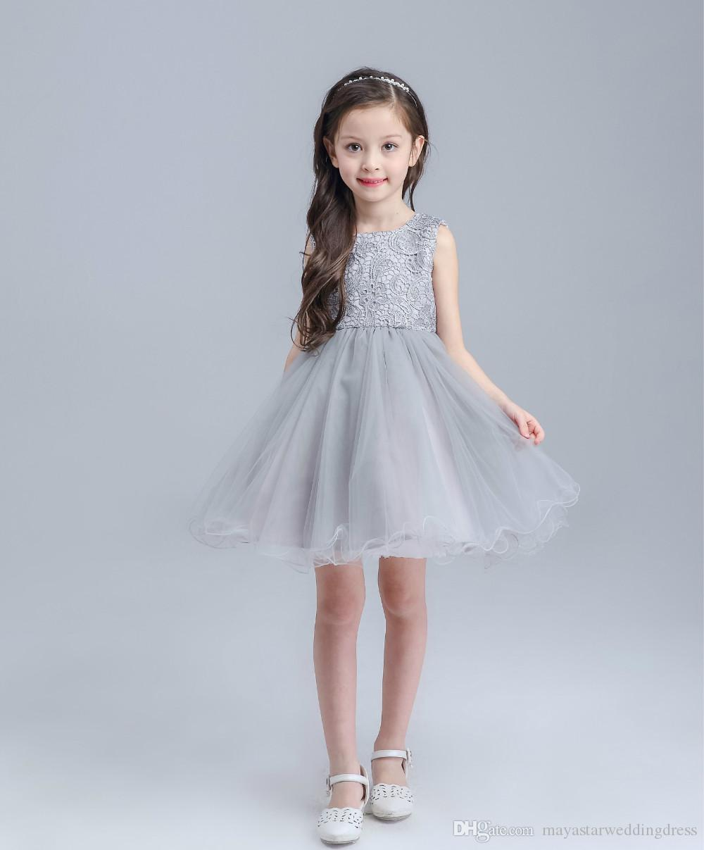 2018 Ball Gown Little Girls Birthday Party Dress With Beads Beauty ...