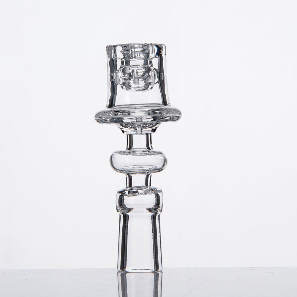 Diamante Nodo Enail Al quarzo Chiodi elettrici Trasparente Giunto per bobina da 20mm Design elegante Diametro vasca 19,5 mm