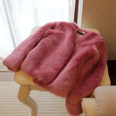 Зима новый искусственный лисий мех женщин многоцветные пальто N84