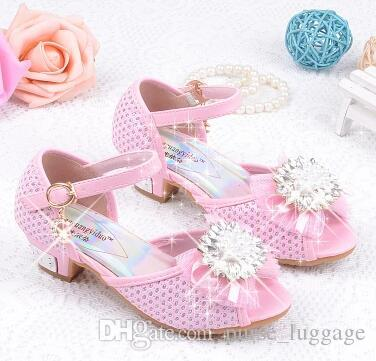 7be3fdb6bd ... the new children's high heels girls sandals 6 7 8 9 10 years old little  girl ...