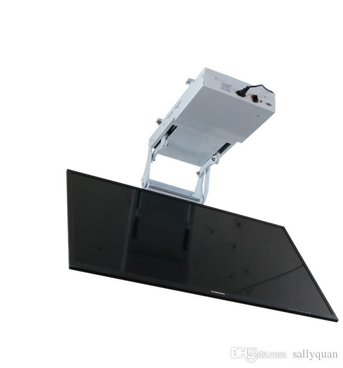 2018 motorized electric hidden flip down false ceiling Led lcd tv lift mount hanger holder remote control function 110v-250v