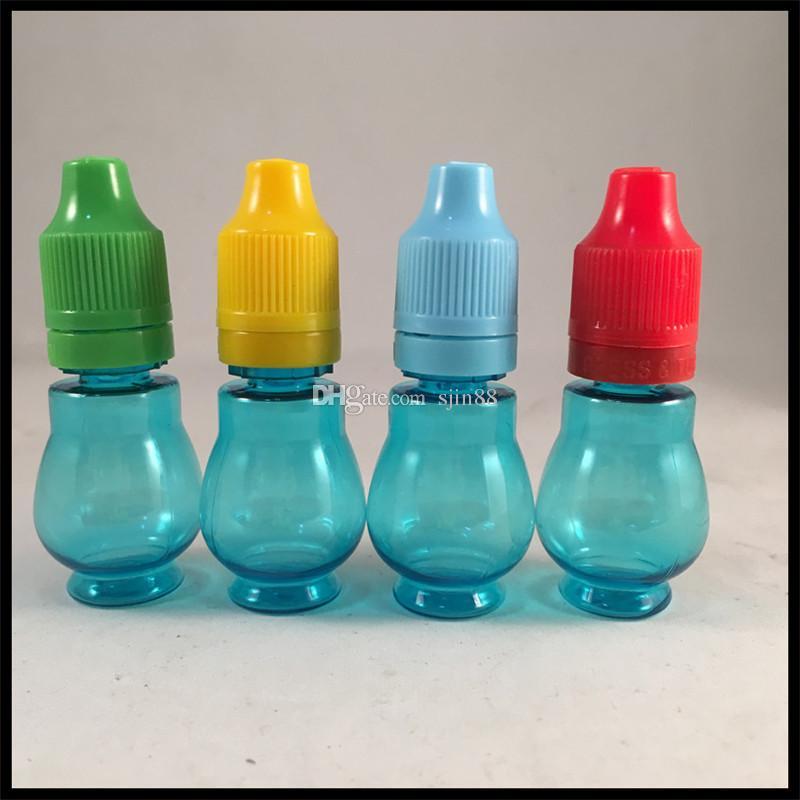 NUOVO flacone liquido in plastica blu da 10ml con tappo antimanomissione a prova di bambino e flacone ejuice con contagocce lungo e sottile