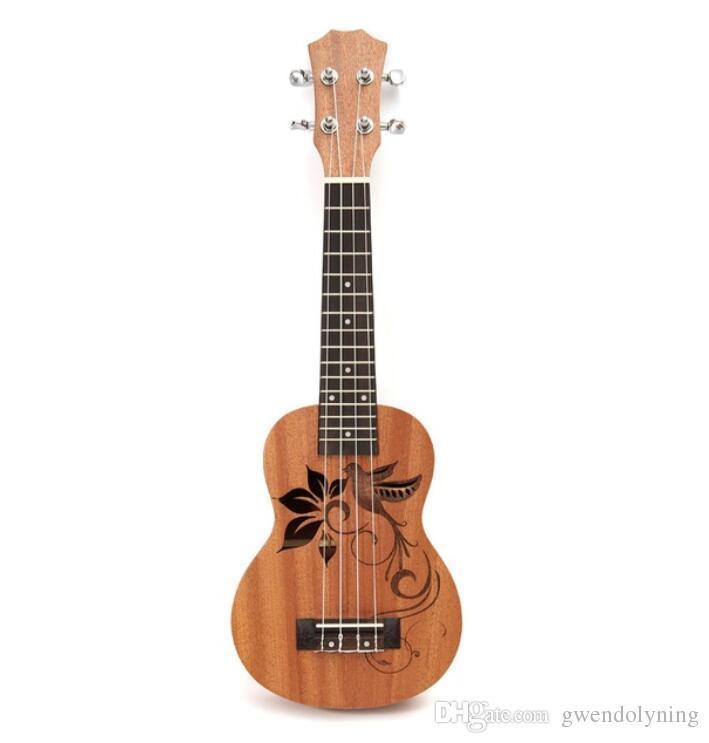 """21 """"Mini Sapele Ukulele Ukelele Tastiera in legno di palissandro chitarra mogano collo delicato sintonia peg nylon string matte bambini regalo"""
