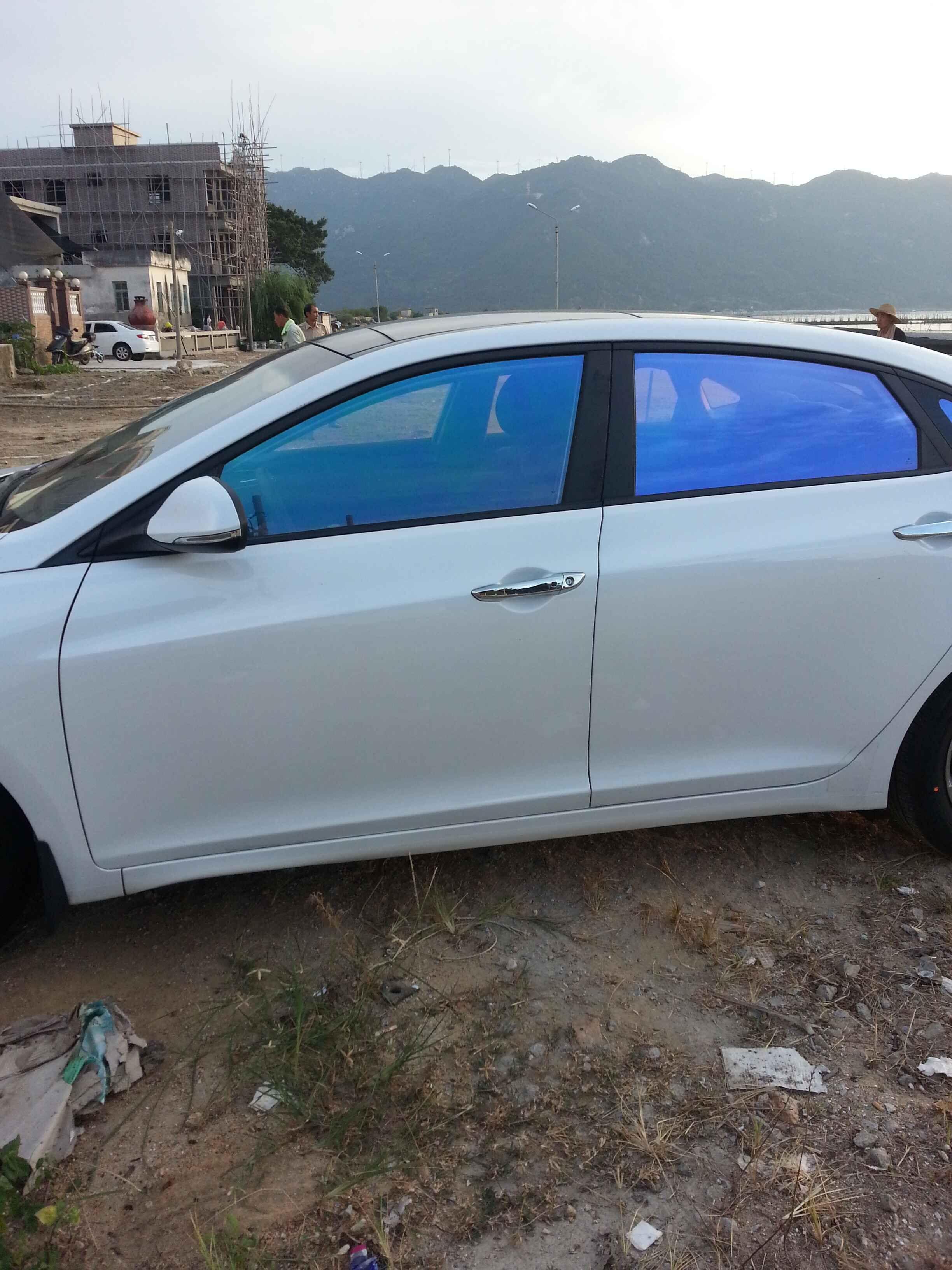 Premium Otomobil Cam chameleon Güneş cam filmi araba camları renklendirme tonu mor 1.52x30 m / Rulo 4.98x98ft
