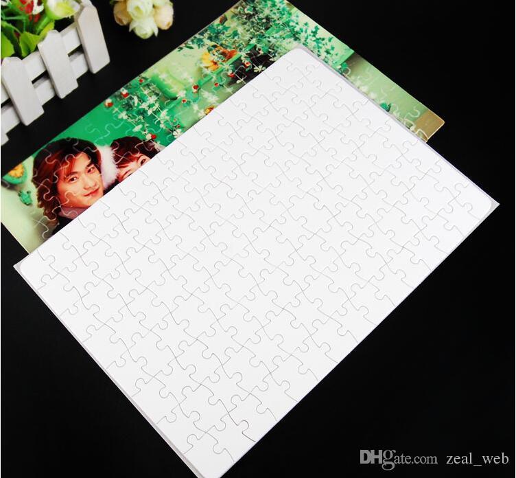 Sublimación en blanco A4 Rompecabezas con 120 piezas DIY Transferencia de prensa de calor Manualidades Puzzle Oficina Material escolar