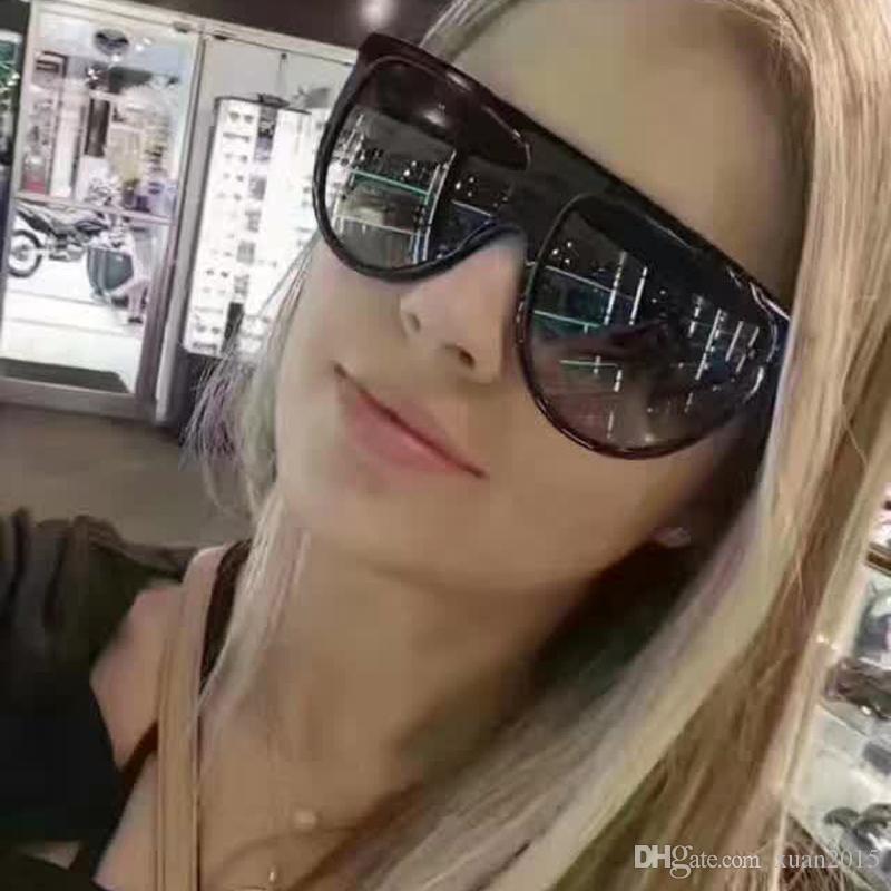 Marca de moda plana UV400 Gafas de sol Top Shades Shades Design Vintage Sun Gafas Mujeres Shades 2017 Big Women Y65 AGRPB