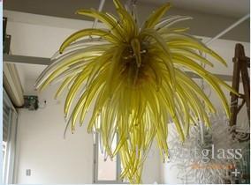 Ücretsiz Kargo AC Led Ampuller 110 v / 240 v Ev Çağdaş Yeşil Üflemeli Cam Sanatı Dekoratif Tavan Işıkları