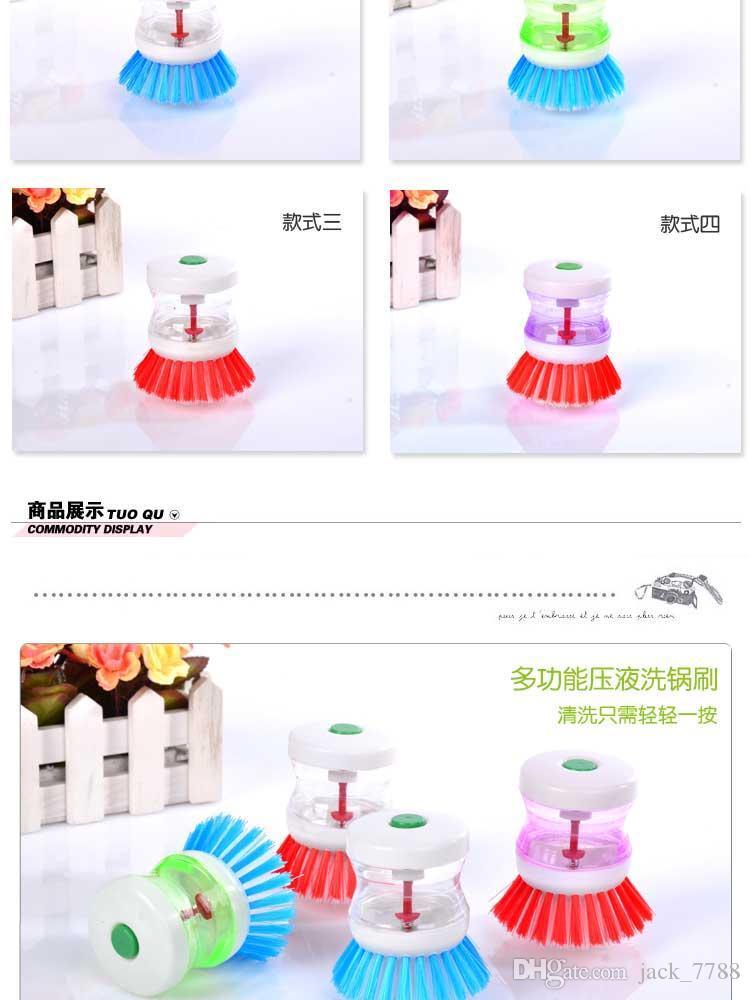 Dispositivo di dosaggio automatico tabellone tabellone pennello spazzola pennello pulizia cucina Xiguo spazzola per lavastoviglie pennello pentole e padelle