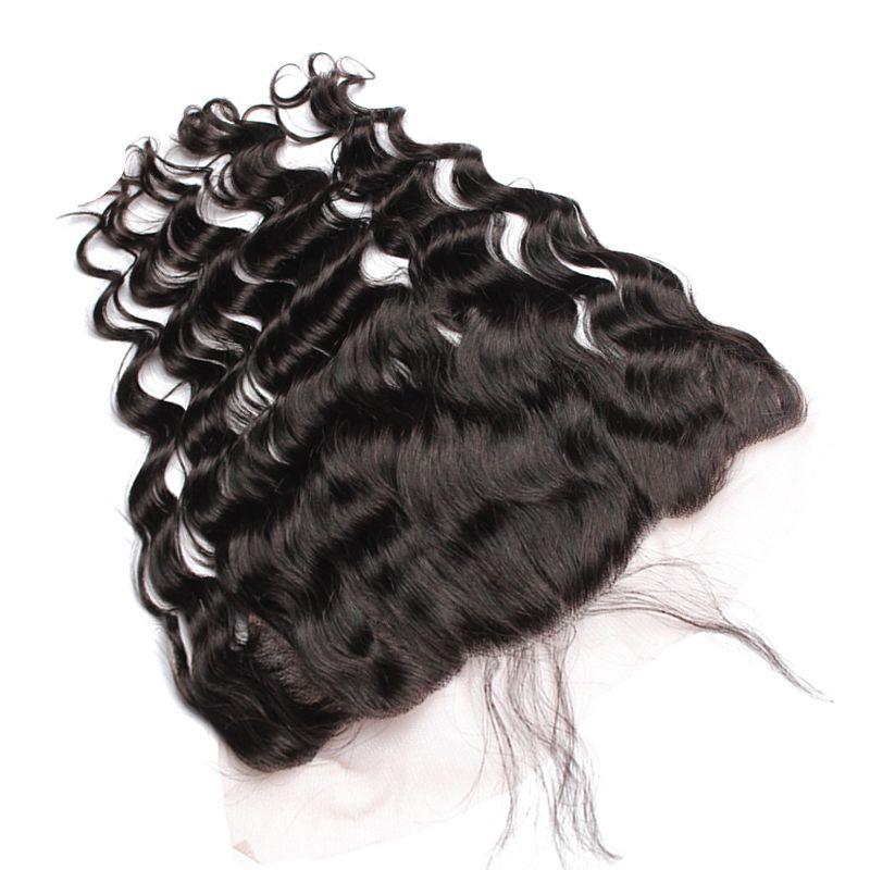 뾰족한 웨이브 귀 귀 레이스 Frontals 표백 매듭 9A 말레이시아 느슨한 곱슬 인간의 머리 레이스 정면 흑인 여성을 위해