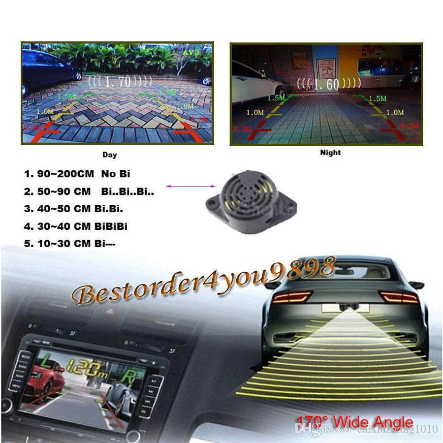 2020 7 Car Lcd Mirror Monitor 2 Led Car Parking Sensor Radar