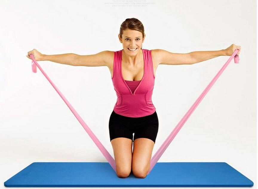 New yoga Pilates extensible Bande de résistance Exercice Fitness ceinture de tension de yoga formation élastique bracelet extensible 1200mm