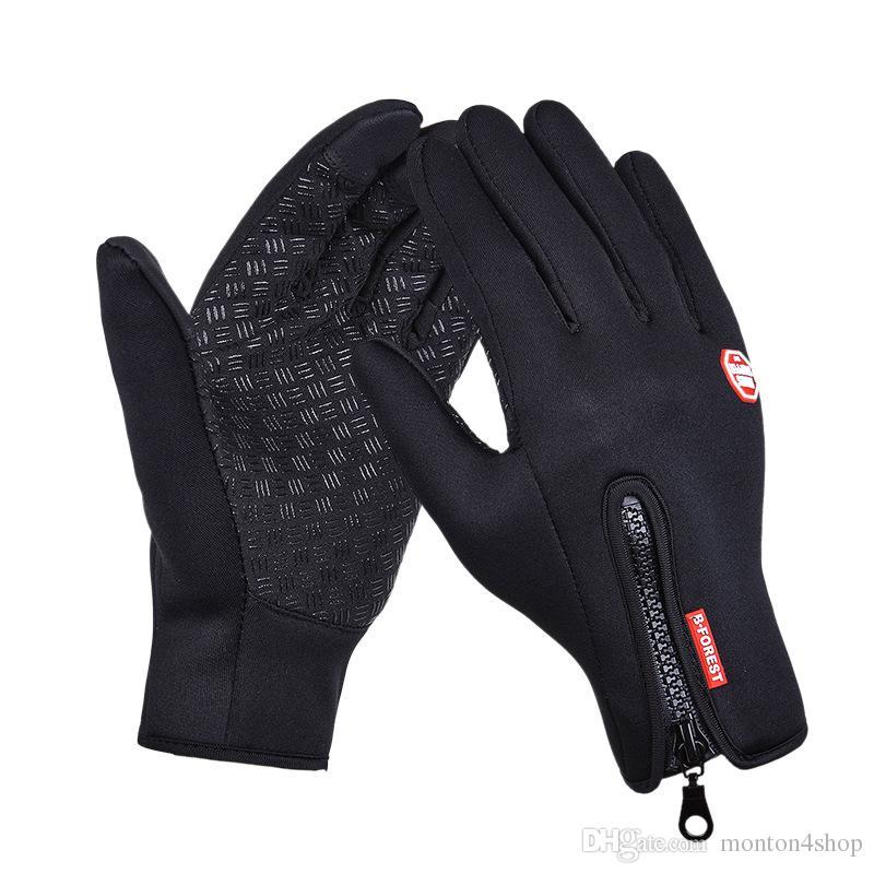 2016 winter Thermal fleece Cycling Long Finger Touch screen Windproof waterproof gloves