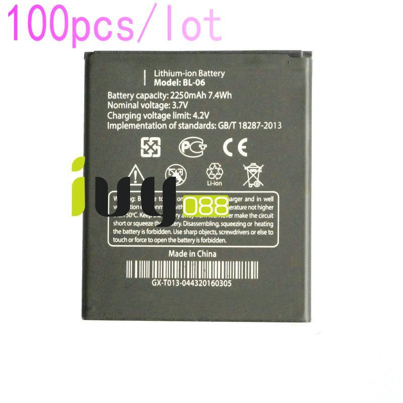 100 قطعة / الوحدة الأصلي BL-06 BL06 bl 06 2250 مللي أمبير بطارية ل thl t6s t6c t6 الموالية بطاريات الهاتف المحمول