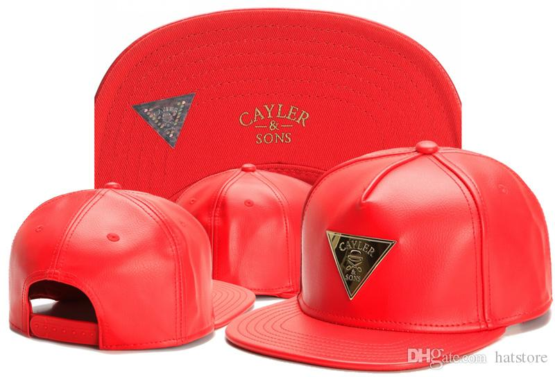New Hot Hip Hop Men/'s CAYLER Sons Cap adjustable Baseball Snapback Red hat 2#