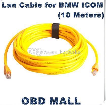 2016 кабель Lan хорошего качества для BMW ICOM (10 метров) для автомобиля BMW ICOM диагностирует разъем для кабеля LAN BMW ICOM