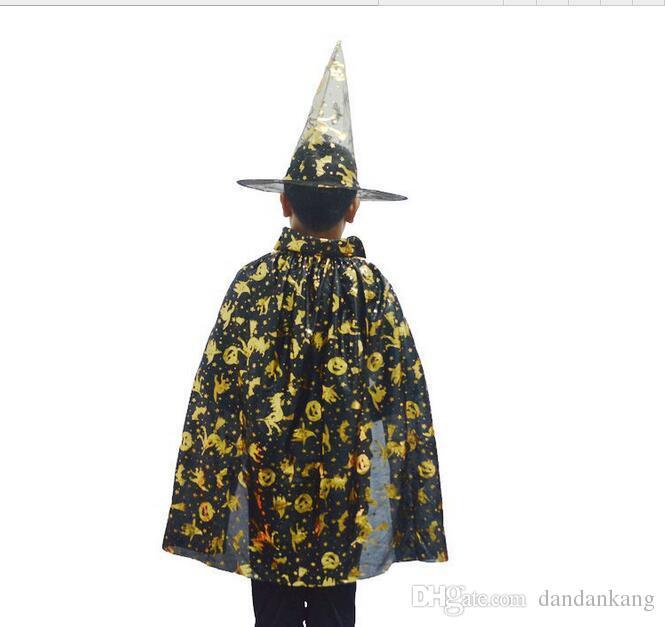 Enfants Sorcière Chapeau Capuche Vêtements Vêtements Enfants Halloween Costume et Halloween Cosplay Kids Performance Vêtements 50Se Lot Expédition gratuite