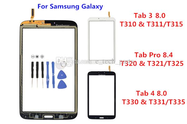 لسامسونج غالاكسي تبويب 3 4 8.0 T310 T311 T315 T330 T331 T335 T320 T321 T325 التي تعمل باللمس الشاشة الزجاجية أدوات مجانية