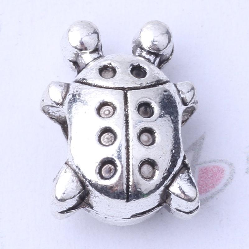 Pandora Coccinellidae cuentas de bricolaje pulseras de la joyería o collar de plata antigua / encantos de bronce 150pcs / lot 3103z