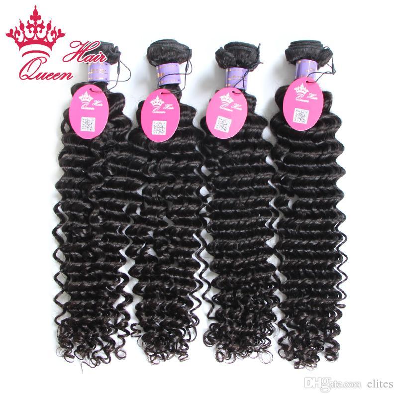 Queen Hair Malasian Virgin Onda profunda Cabello rizado 100% Virgin Hair Hair 10 pulgadas a 28 pulgadas 100 g / PC 4pcs / lot