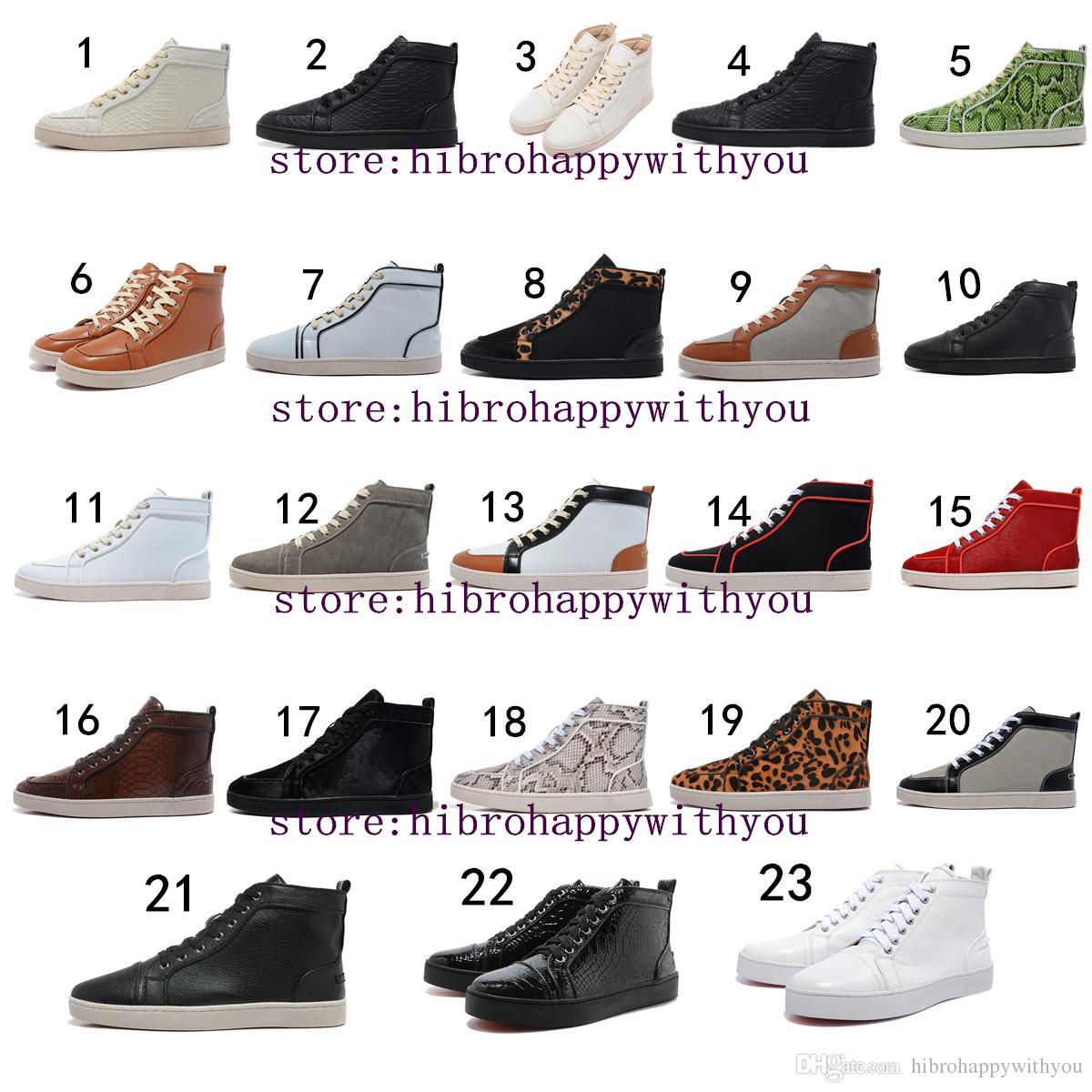 European Brands Red Bottom Shoes Mens