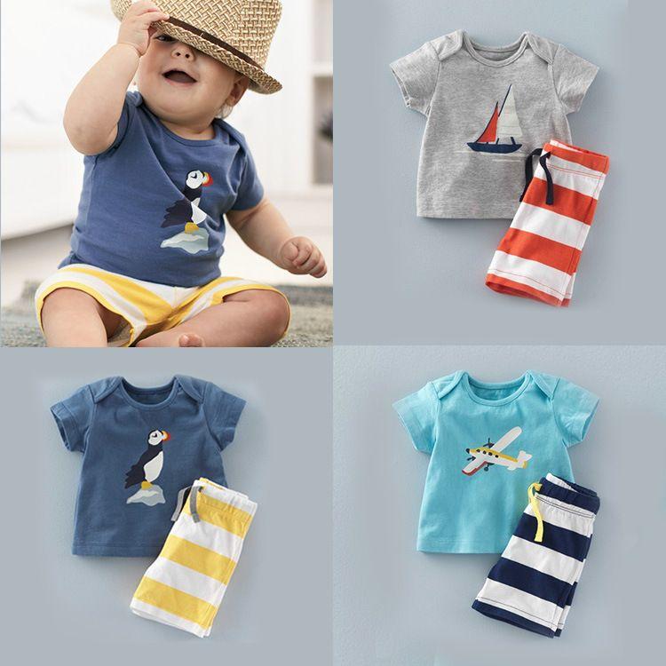 Shorts Pants Outfits Set UK Infant Baby Boys Kids Summer Clothes T-shirt Tops