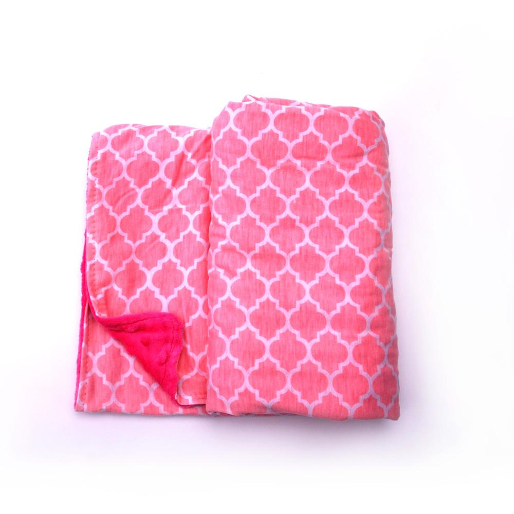 Quatrefoil Minky Blanket Wholesale Blanks Baby Cover with Soft Minky Toddler Blanket Gift for Baby Free Shipping DOM106223