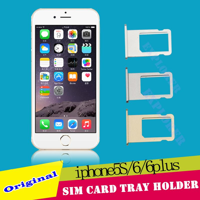 Pièces de rechange pour support de plateau de carte SIM pour iPhone 4G 4S 5 5G 5C 5S 6G 6 Plus 6S 4.7 5.5