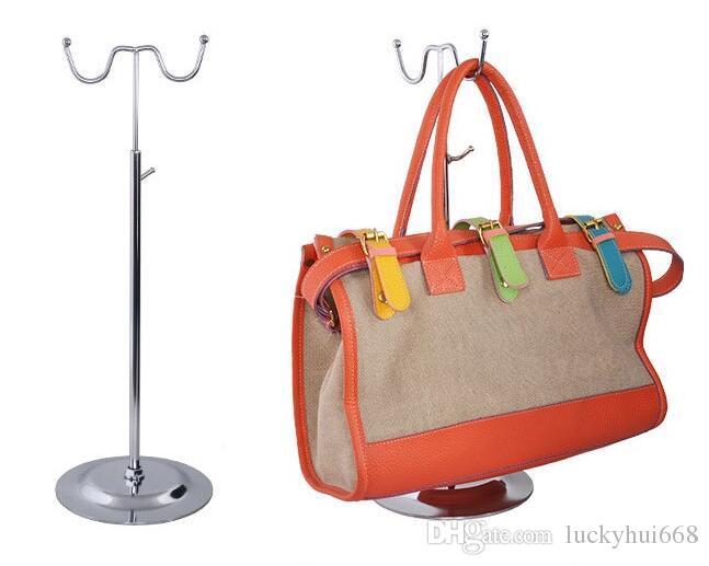Free shipping mirror surface handbag display stand women wig display holder rack bags purse hat scarf Clothing hanger hook holder