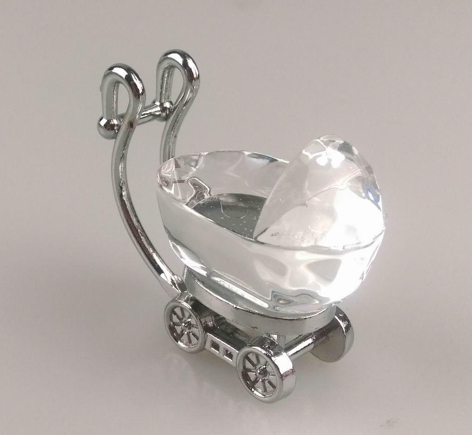 Baby Shower Decorations Crystal Carriage Favor Gifts Kids Birthday