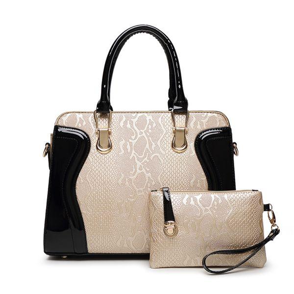 Großhandel Handtaschen Frauen Damen Leder Schultertasche Tote Handtasche Handtasche Messenger Crossbody Satchel 2016 Weibliche Paket Neue Prägung Mit