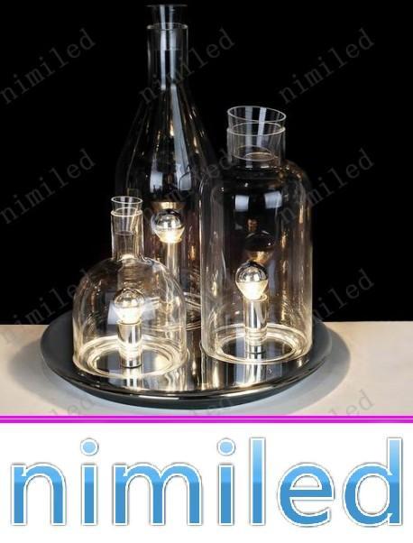 nimi690 European ITRE Rosati Bacco 123 Bottle Table Lamp Bedroom Lights Living Room Glass Desk Lighting Bar Hotel Lamps