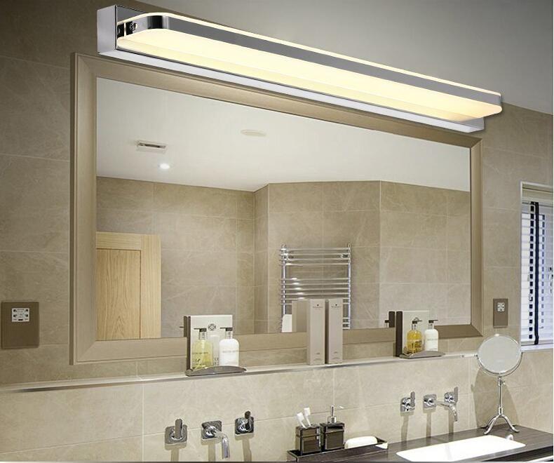 Lumière acrylique de salle de bains LED Mirror SMD5050 Mini style étanche LED Appliques murales avant lumière